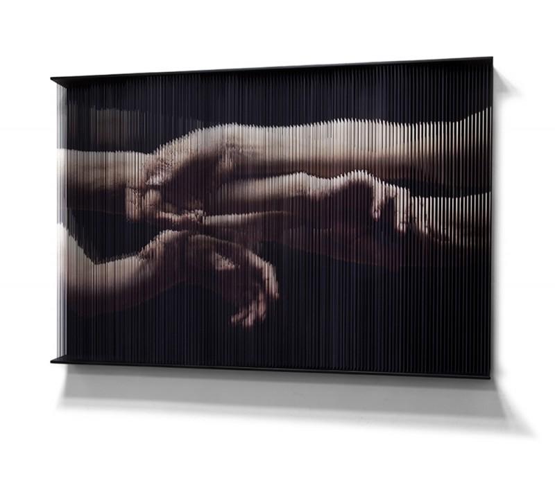 (4)String_hands_4318 100x 150 x 14 (cm) 2012